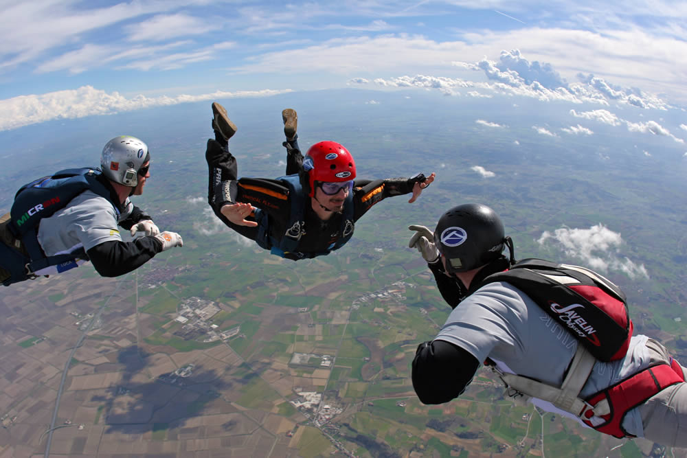 AFF student in freefall