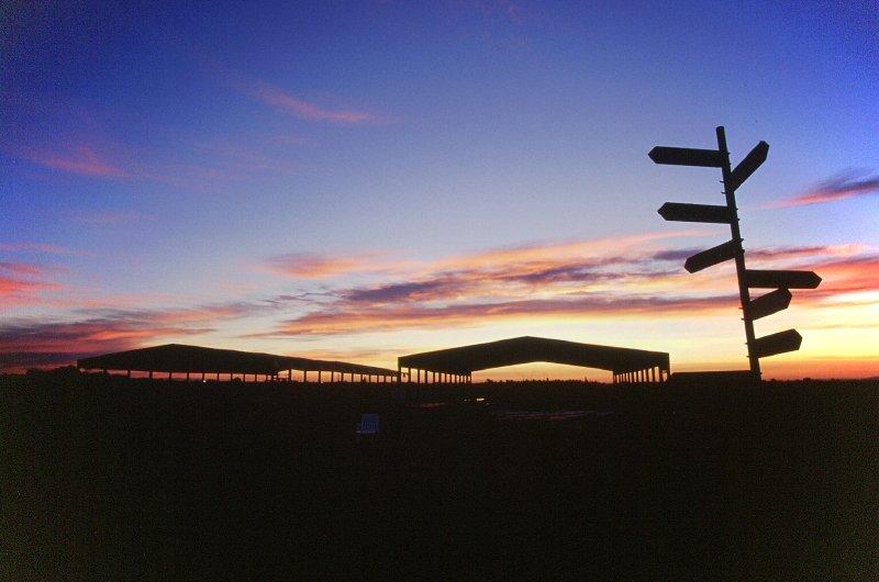 Un magnifico tramonto dopo una giornata di lanci