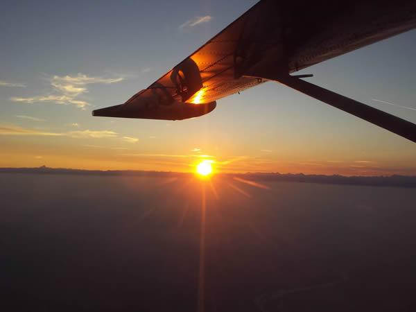 Magnifico tramonto. Contatta la scuola per vederne uno così